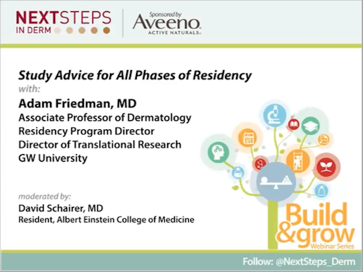 STUDY ADVICE FOR ALL PHASES OF RESIDENCY - Next Steps in
