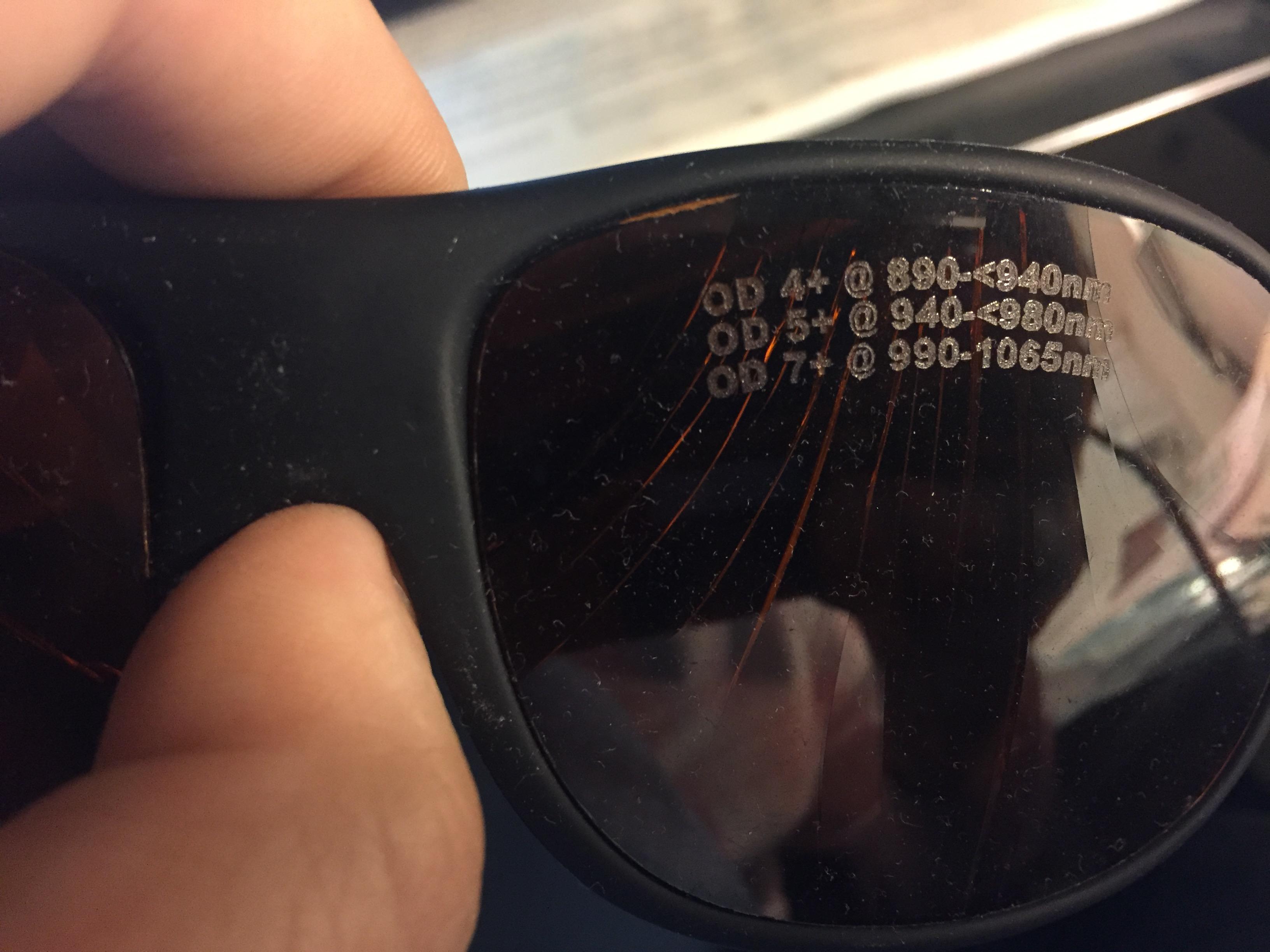 laser glasses
