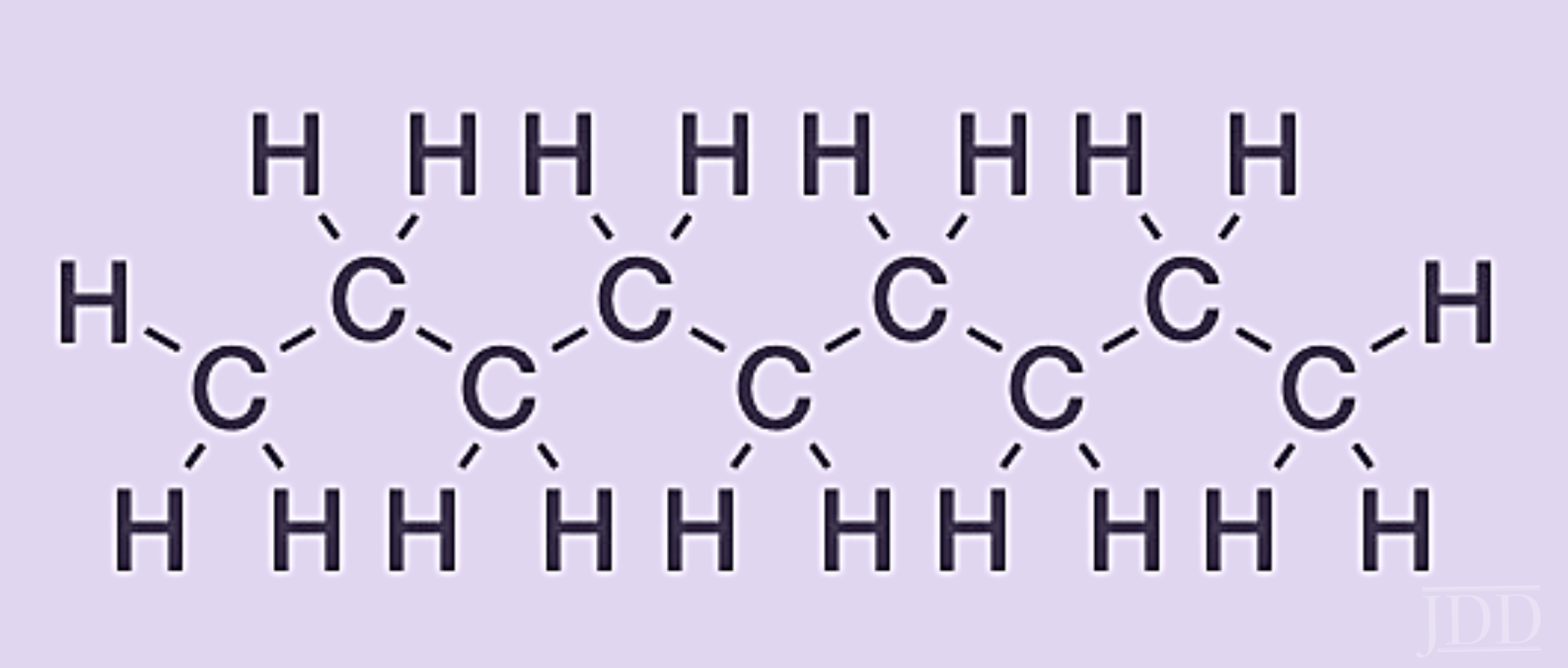 Chemical structure of a simple alkane chain