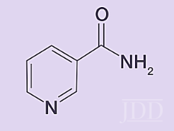 Structure of niacinamide.