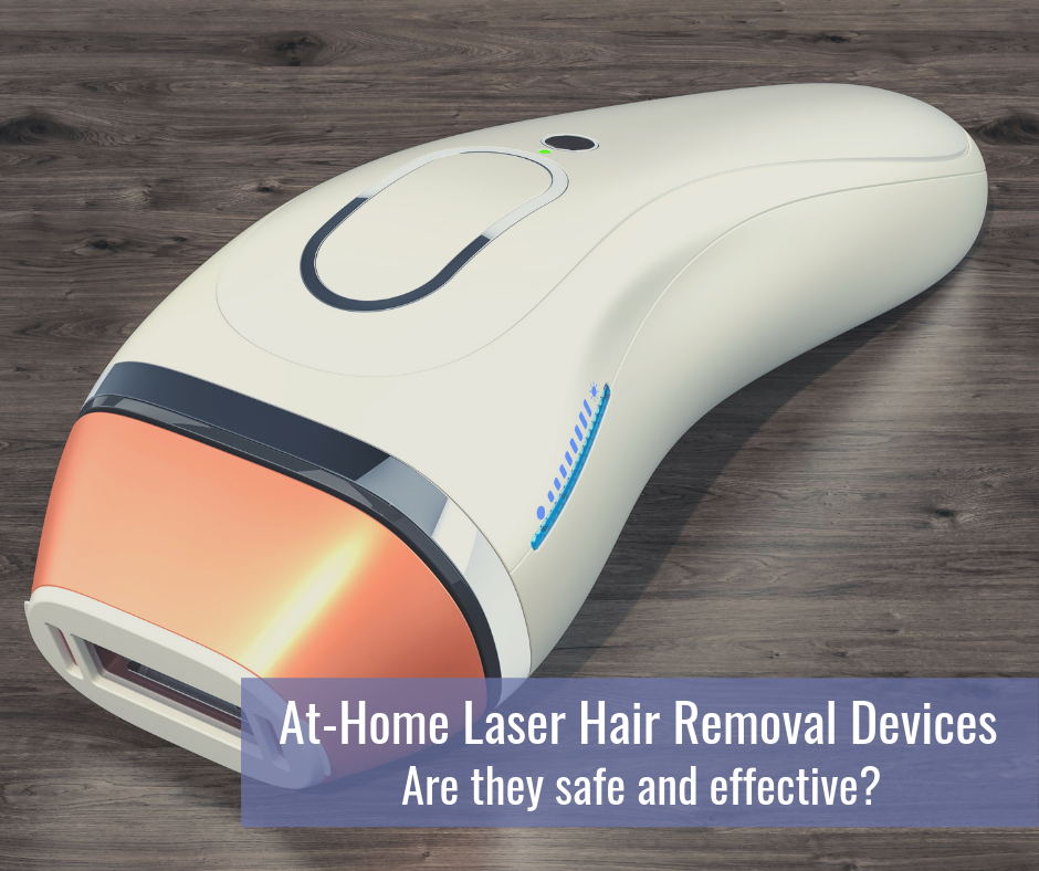 At home laser hair removal device