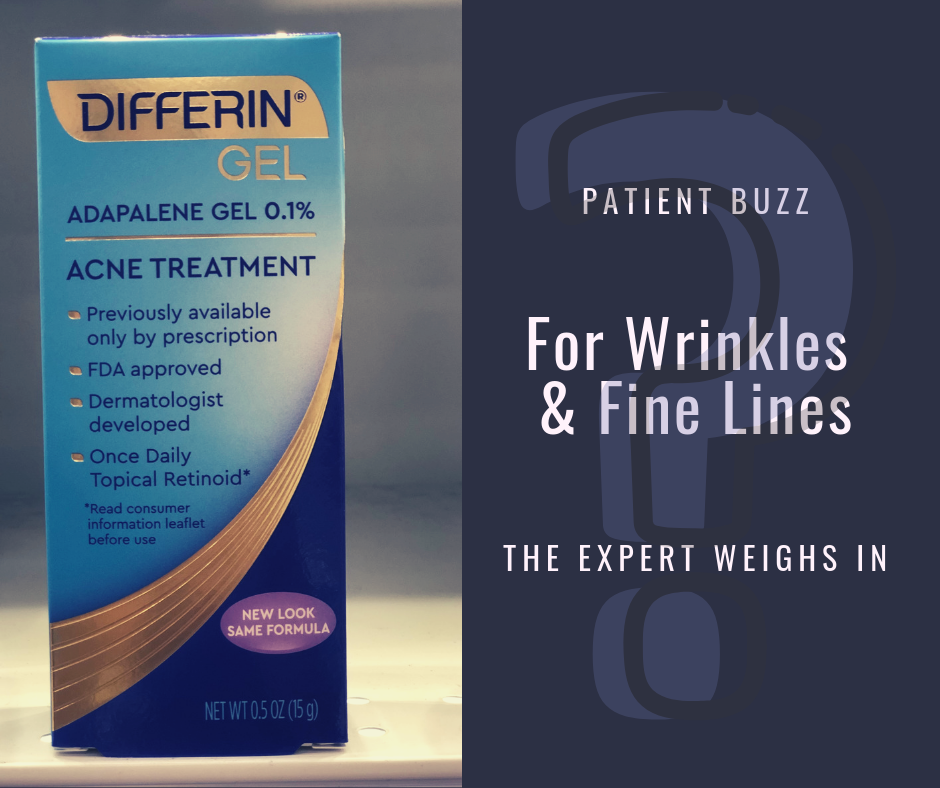 Differin for wrinkles and fine lines