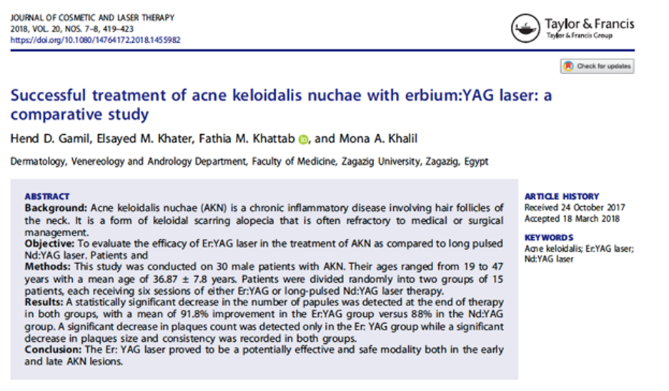AKN treated with erbium:YAG laser