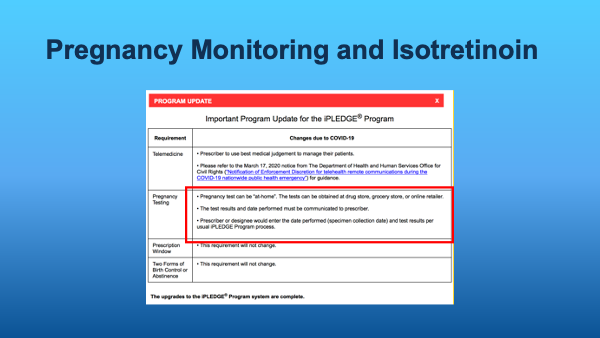 Pregnancy Monitoring & Isotretinoin