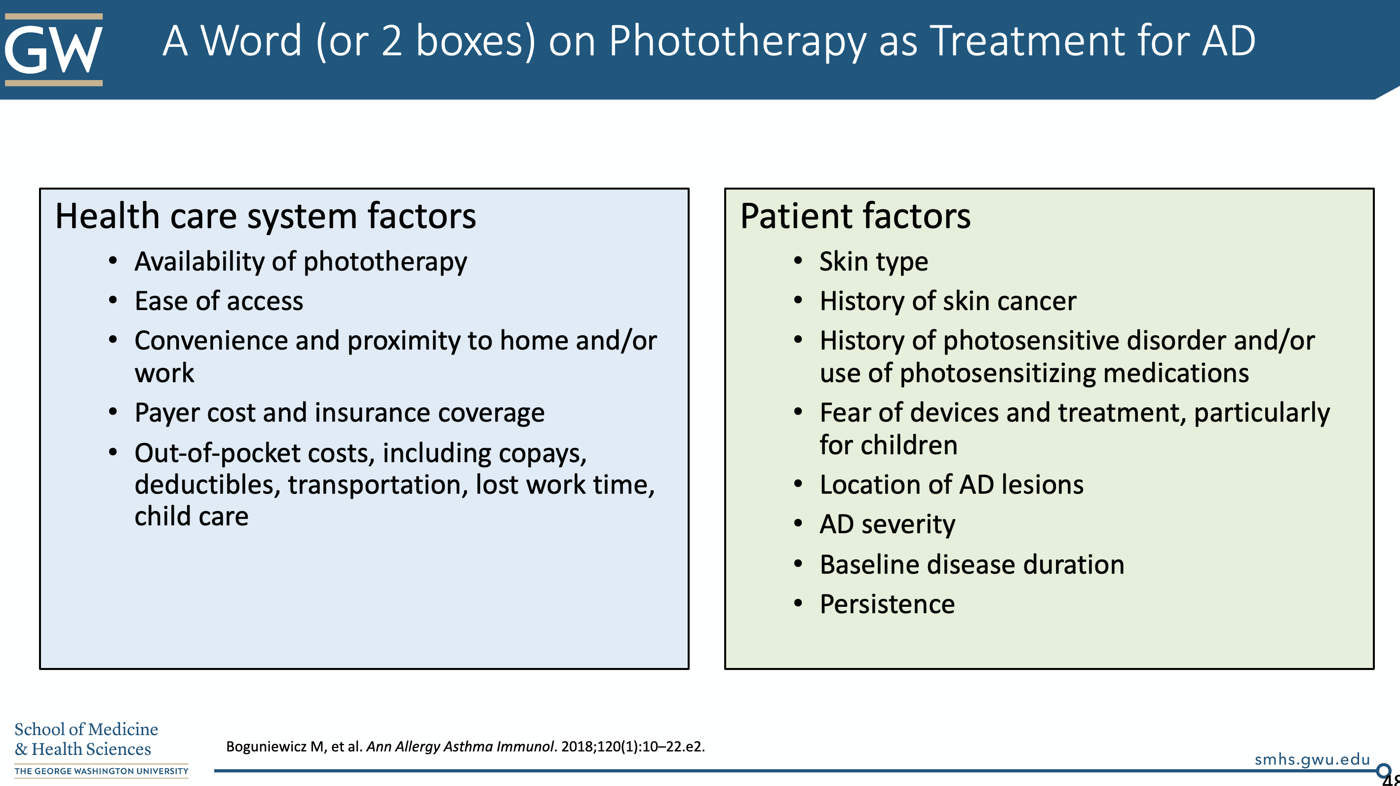 Phototherapy as Treatment for Atopic Dermatitis