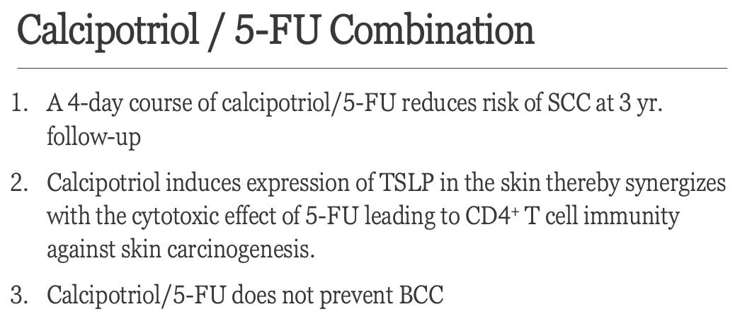 Calcipotriol/5-FU Combination