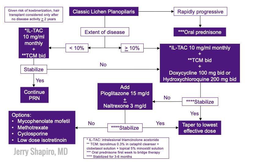 Lichen Planopilaris Treatment Algorithm