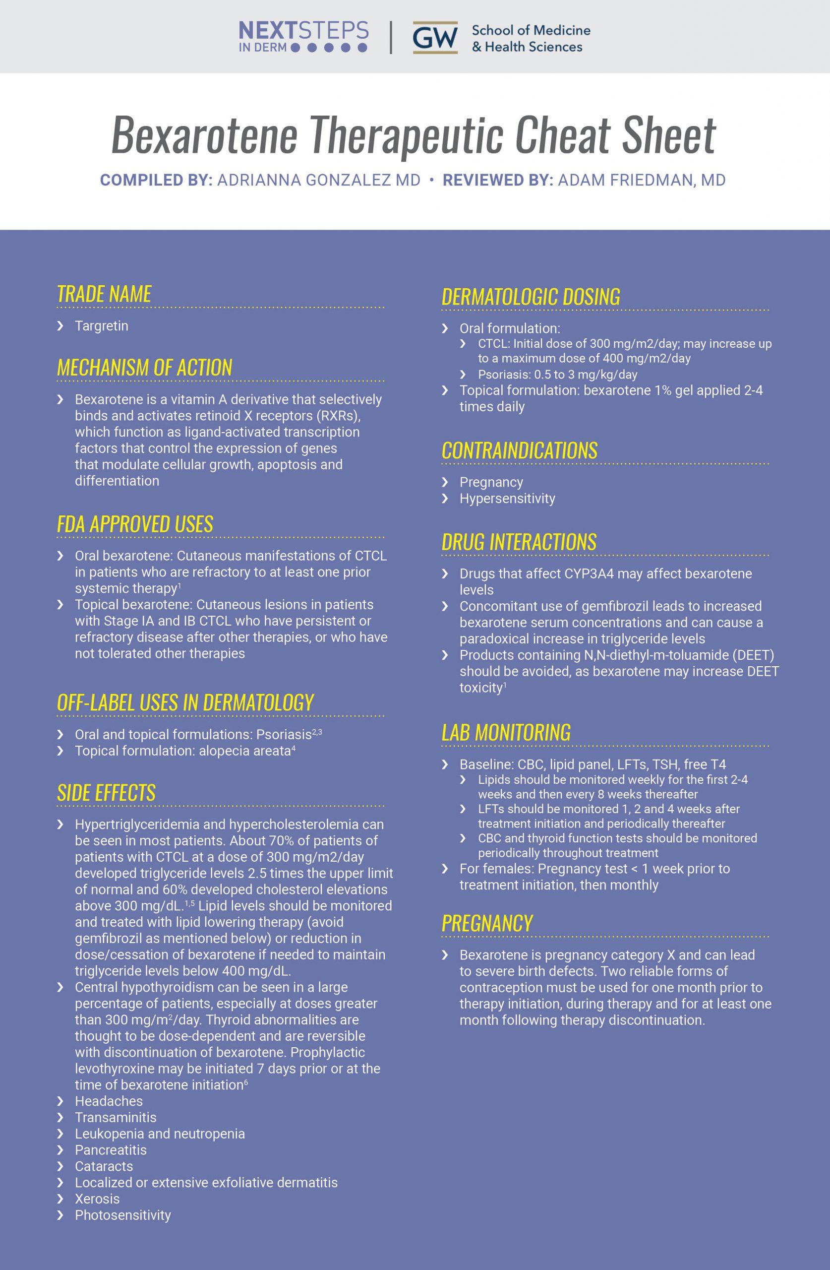 Bexarotene for CTCL