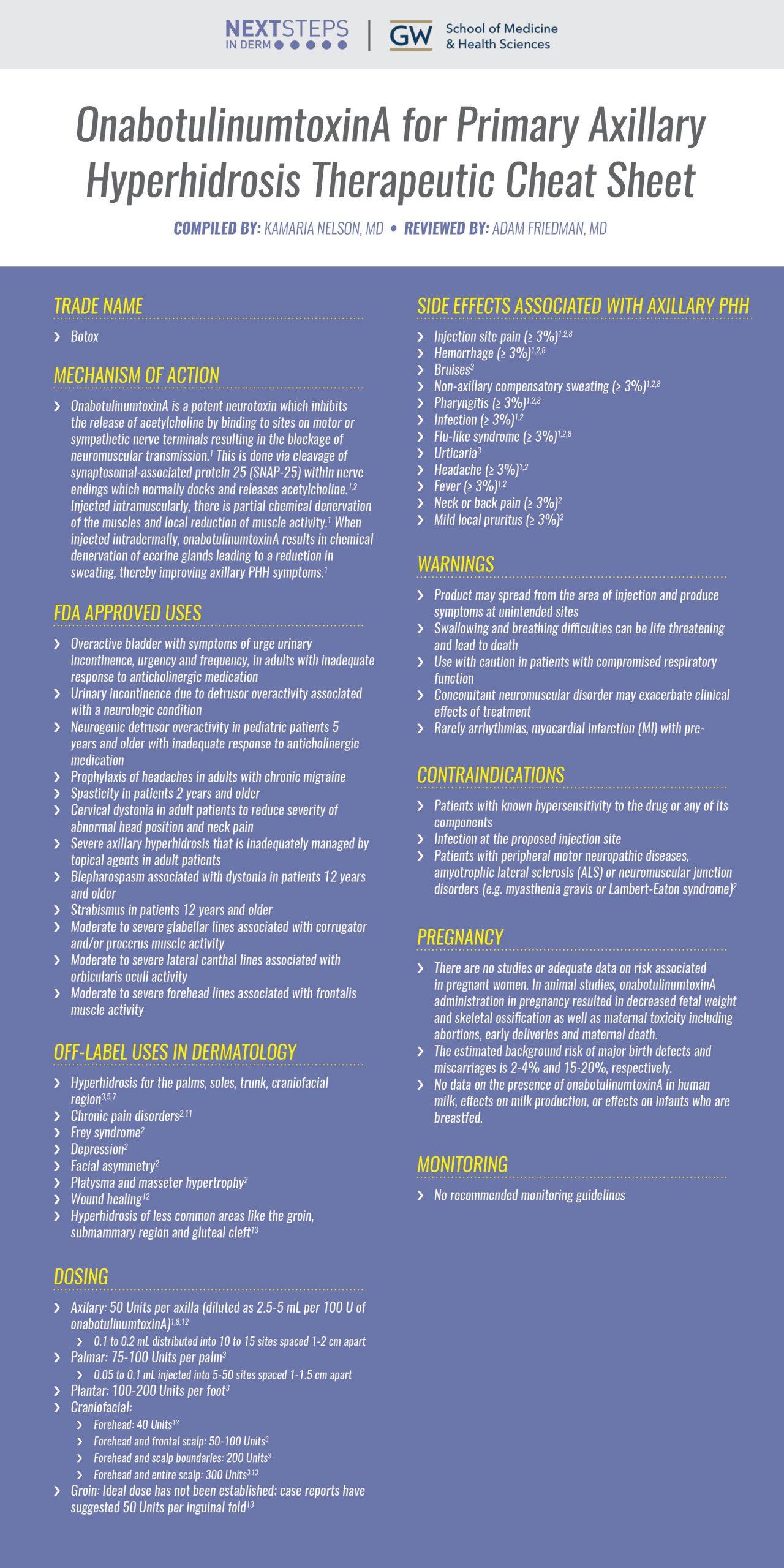OnabotulinumtoxinA for Hyperhidrosis